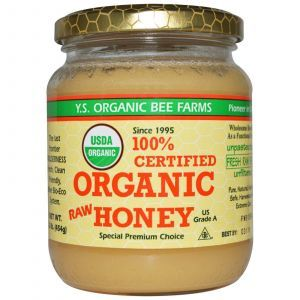 Мед, Raw Honey, Y.S. Eco Bee Farms, 454 г.