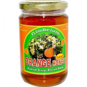 Апельсиновый мед, Raw Honey, Y.S. Eco Bee Farms, 383 г.