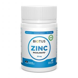 Цинк пиколинат, Zinc Picolinate, Biotus, 22 мг, 30 капсул